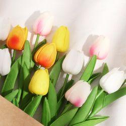 라이프공방 튤립조화 조화 꽃 장식 망고튤립조화
