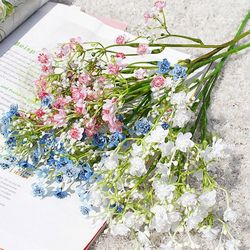 라이프공방 안개꽃조화 조화 꽃 장식 망고튤립조화