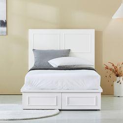 코니시 호텔형 도장 슈퍼싱글 침대(매트 별도)