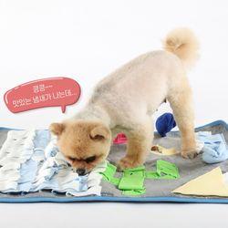 강아지 애견 노즈워크 분리불안 장난감 대형 담요 매트