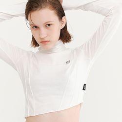 HALF NECK LOGO T-SHIRT WHITE