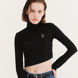 HALF NECK LOGO T-SHIRT BLACK