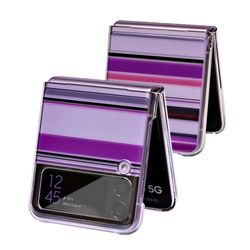 갤럭시 Z 플립3(SM-F711 ) 전용 Stripe 이미지 투명하드 케이스