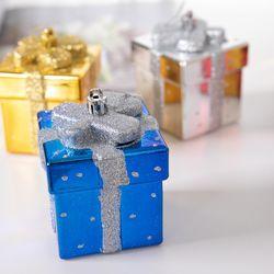 유광선물상자 7cm 크리스마스 트리장식 소품 TROMCG