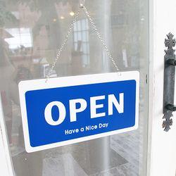오픈클로즈 문패 영업중 안내 표지판 양면 포멕스 팻말 7801