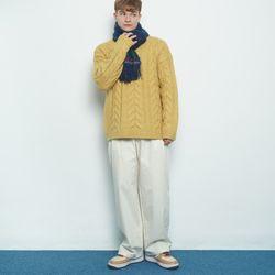 M456 banding cotton pants beige