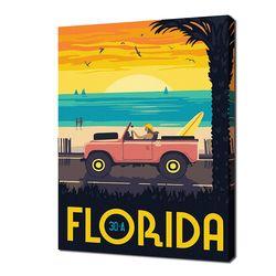 [명화그리기]2030 미니여행-플로리다 30A 16색 일러스트