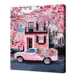 [명화그리기]4050 키 웨스트 핑크 하우스 27색 풍경화