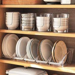 클리어 그릇 정리대 (식기수납함)