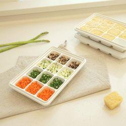 창신리빙 칸칸 아이스 얼음 냉동실 소분용기 12구2개