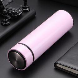 엣지 304스텐 보온병(450ml) (핑크)