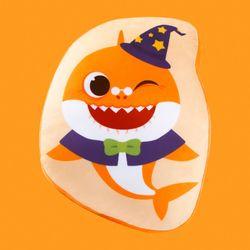 핑크퐁 아기상어 할로윈 라인프린트쿠션-할머니상어