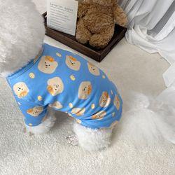 강아지 곰돌이 스판 겨울 가을 내복