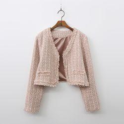 Tweed Open Crop Jacket