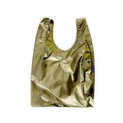 [바쿠백] 휴대용 장바구니 접이식 시장가방 Brass Metallic