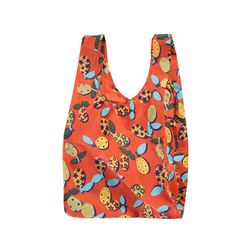 [바쿠백] 휴대용 장바구니 접이식 시장가방 Kumquat Collage