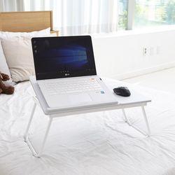 [리퍼브 상품] 퓨어 화이트 노트북 테이블