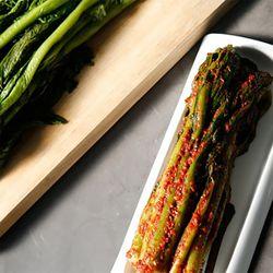 팜스락 여수 돌산 삼채 갓김치 1kg 100% 국산재료