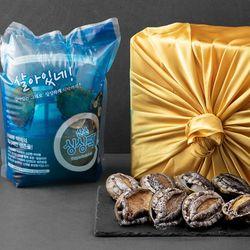 싱싱하고 건강한 해남전복 1kg 6미~8미(특대)+세척솔
