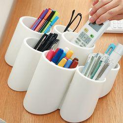 책상정리 필기구 꽂이함 만능꿀템 원형수납꽂이