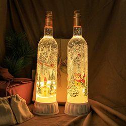 와인속 크리스마스 워터볼 오르골 무드등 조명