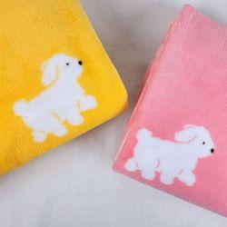 아이비스 댕댕이 극세사 담요 캠핑 겨울 옐로우 핑크