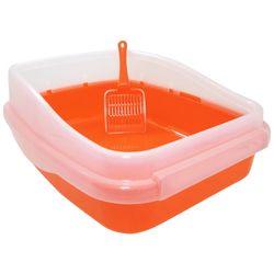 고양이 배변용품 신한 칼라 평판 화장실 오렌지