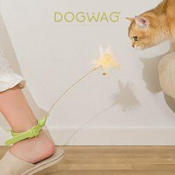 도그웨그 고양이 발목 깃털 낚시대 장난감 강아지풀 오뎅꼬치