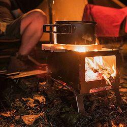 아이니샵 접이식 휴대용 불멍 바베큐 캠핑화로대