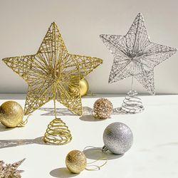 크리스마스 트리 오너먼트 탑별 꼭대기 별2color