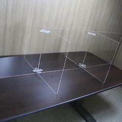 투명 가림막 6인 아크릴 칸막이 간편