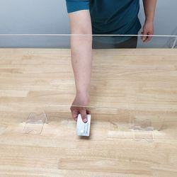 국산 대형 사각받침대 이동식 아크릴 창구형 1인용