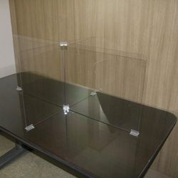 안깨지는 방역 투명 가림막 칸막이 회의실 식당 4인용
