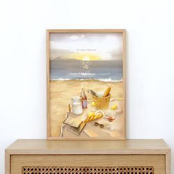 A3 종이 포스터 - 해변의 피크닉