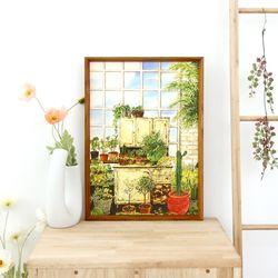 A3 종이 포스터 - 오래된 정원