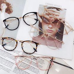 캣츠아이 패션 안경 금테 검정 호피 투명 뿔테 안경테