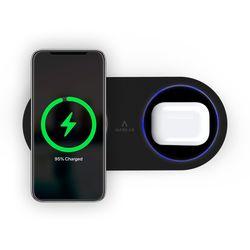 만렙 30W 2in1 고속 듀얼 무선충전기 충전패드 갤럭시 아이폰