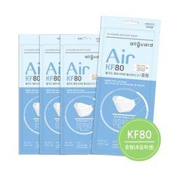 [중형]올가드 에어 KF80 100매 화이트 개별포장 초등학생용