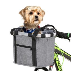 핸들고정형 복주머니 자전거 천 바구니 탈부착 가방