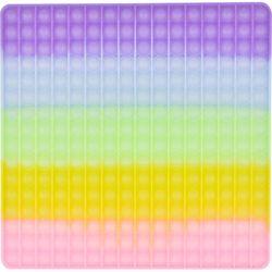 레인보우 푸쉬 팝 버블 - 30cm 사각 (야광)