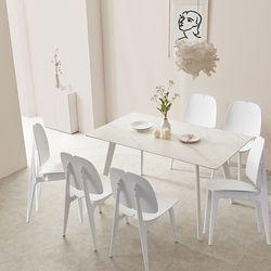 라르고 세라믹6인 식탁테이블세트(의자6개포함) LG15R