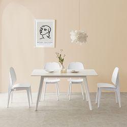 라르고 세라믹6인 식탁테이블세트(의자4개포함) LG14R