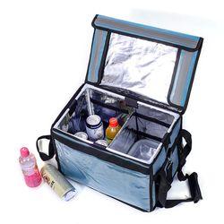 프레쉬 컵홀더 보온보냉 배달가방(32L) (블루)