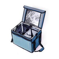 프레쉬 컵홀더 보온보냉 배달가방(48L) (블루)