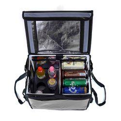 프레쉬 컵홀더 보온보냉 배달가방(48L) (블랙)