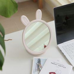 파스텔 토끼모양 접이식 각도조절 화장대 탁상거울(5color)