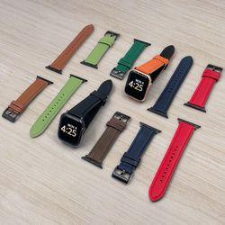 EASYSTRAP 애플워치용 레더 스트랩 가죽 밴드 시계줄