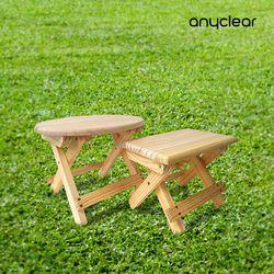 접이식나무받침대 의자 감성 캠핑용 워터저그 스탠드 사각타입