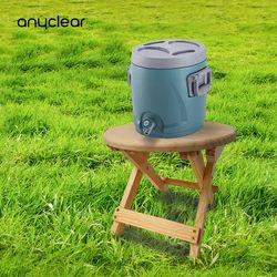 접이식나무받침대 의자 감성 캠핑용 워터저그 스탠드 원형타입
