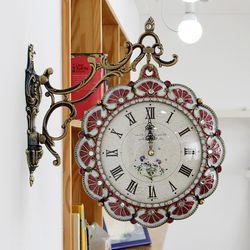 부채꽃 주물 양면시계 SSC-708P 핑크